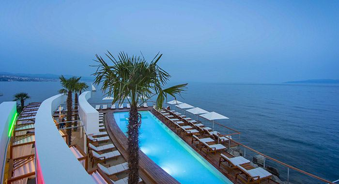 Strand Lido Opatija Kroatien Hotels Apartments Ferienwohnungen Zimmer Wellness Angebote